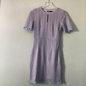 Boutique | cornflower blue chevron lace dress
